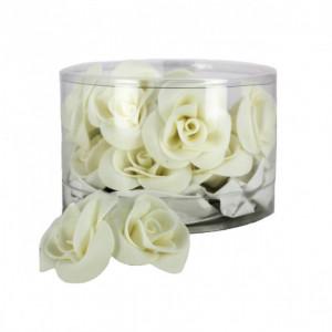 Fleur en sucre Roses Blanches Ø 3,5 cm (x15) Mallard Ferrière