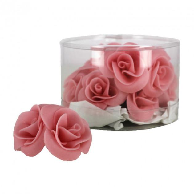 Fleur en sucre Roses couleur rose Ø 3.5 cm (x15) Mallard Ferriere