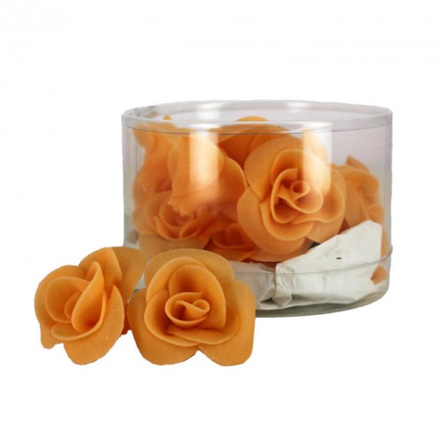 Fleur en sucre Roses couleur peche Ø 3.5 cm (x15) Mallard Ferriere