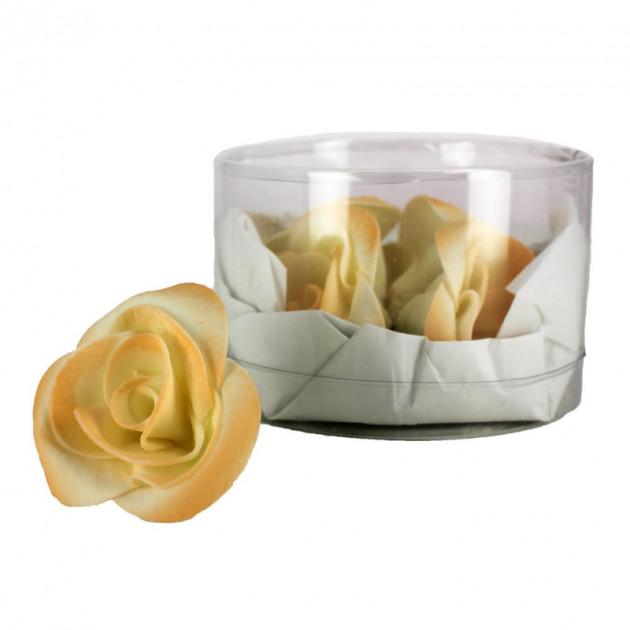 Fleur en sucre Roses - nuancees Peches Ø5 cm (x5) Mallard Ferriere