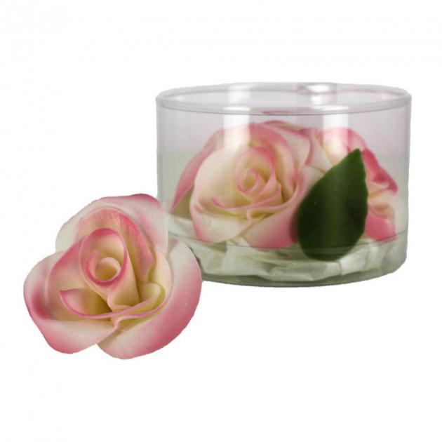 Fleur en sucre Roses - nuancees roses Ø5 cm (x5) Mallard Ferriere