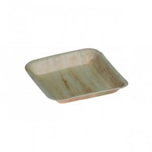 Assiette biodégradable carrée en palmier 24 x 24 cm (x25) Crokus