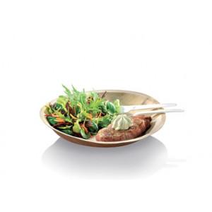 Assiette biodégradable ronde en palmier Ø18 cm (x25) Crokus