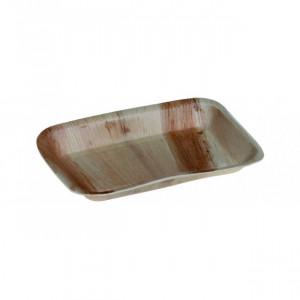 Assiette biodégradable rectangulaire en palmier 24 x 16 cm (x25) Crokus