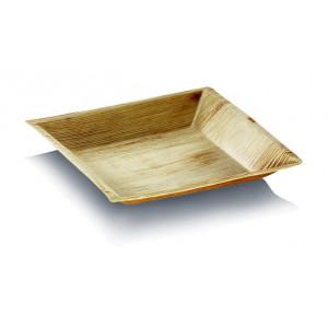 Assiette biodégradable carrée en palmier 18 x 18 cm (x25) Crokus