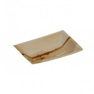 Assiette biodégradable rectangulaire en palmier 17 x 12 cm (x25) Crokus