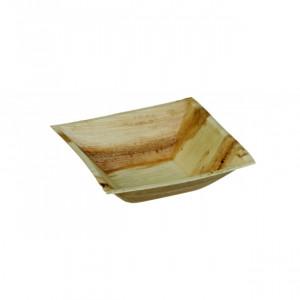 Bol biodégradable carré en palmier 450 ml (x25) Crokus