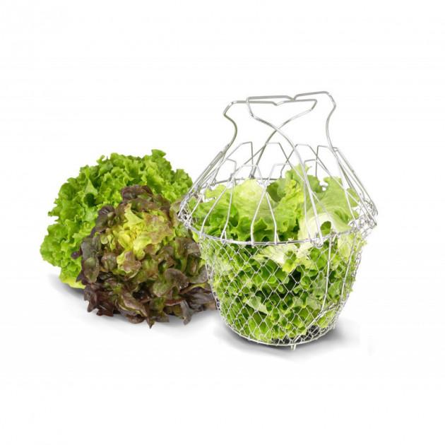 Panier a Salade Pliant Inox 22.5 cm La Bonne Graine