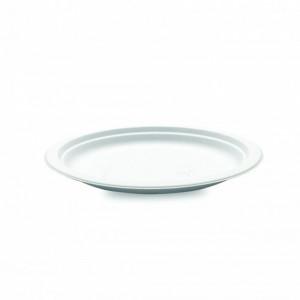Assiette biodégradable ronde en Canne à sucre Ø18 cm (x50) Crokus