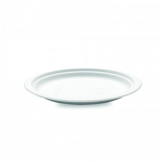 Assiette biodegradable ronde en Canne a sucre Ø18 cm (x50) Crokus