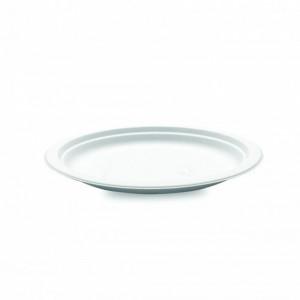 Assiette biodégradable ronde en Canne à sucre Ø23 cm (x50) Crokus
