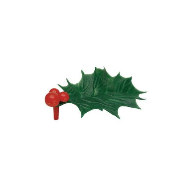 Feuille de Houx Verte x144 Decor Bûche de Noel