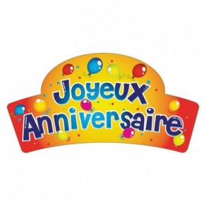 Banderoles Azyme Joyeux Anniversaire ballons (x24) Matfer