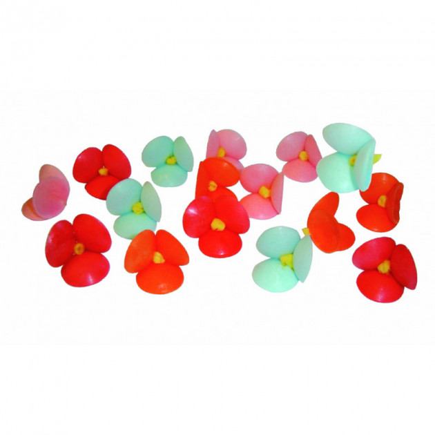 Petites Fleurs azyme assorties Ø2.5 cm (x100) Mallard Ferriere