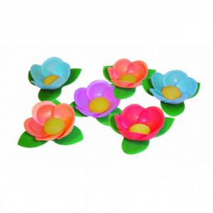 Fleurs Bali azyme assorties Ø4,5 cm (x35) Mallard Ferrière