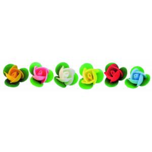 Boutons de roses azyme assortis Ø3,3 cm (x50) Mallard Ferrière