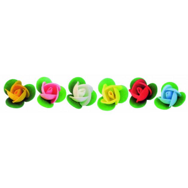 Boutons de roses azyme assortis Ø3.3 cm (x50) Mallard Ferriere