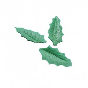 Feuille de houx Azyme vert foncé 4,5 cm (x500) Mallard Ferrière
