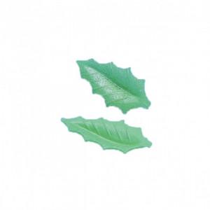 Feuille de houx Azyme vert clair 4,5 cm (x500) Mallard Ferrière