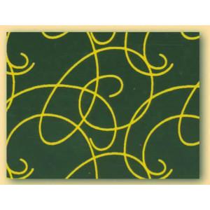 Feuilles de transfert chocolat arabesques jaunes 34 x 26,5 cm (x10)