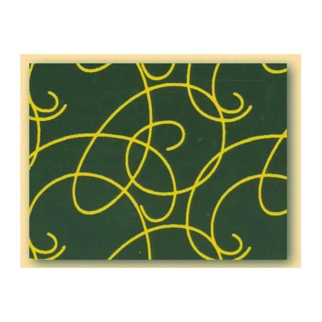 Feuilles de transfert chocolat arabesques jaunes 34 x 26.5 cm (x10)