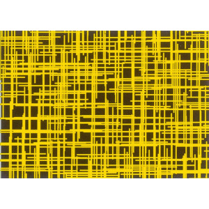 Feuilles de transfert chocolat lignes jaunes 34 x 26,5 cm (x10)