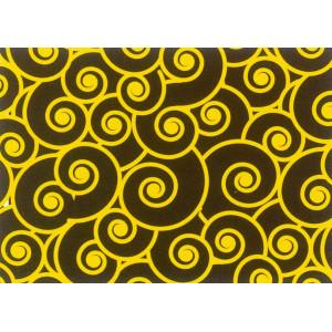 Feuilles de transfert chocolat spirales jaunes 34 x 26,5 cm (x10)