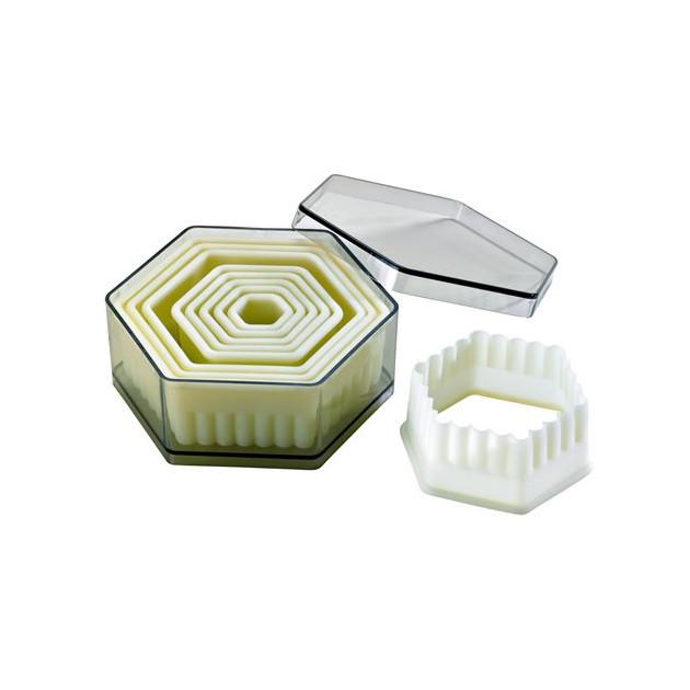 Emporte Piece Hexagonaux canneles Polyglass (x9)