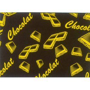 Feuilles de transfert chocolat motif chocolat 34 x 26,5 cm (x10)