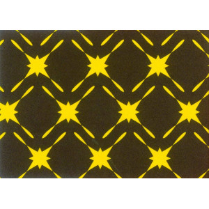 Feuilles de transfert chocolat cannage jaune 34 x 26,5 cm (x10)