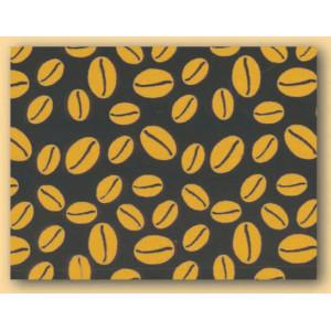 Feuilles de transfert chocolat Grains de café or 34 x 26,5 cm (x10)