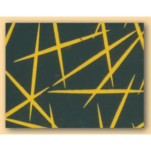 Feuilles de transfert chocolat Paillettes jaunes 34 x 26,5 cm (x10)