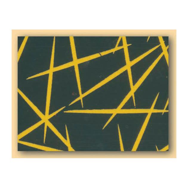 Feuilles de transfert chocolat Paillettes jaunes 34 x 26.5 cm (x10)