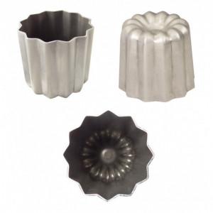 6 Moules à Cannelés 5,5 cm Anti-adhérent en Aluminium Gobel