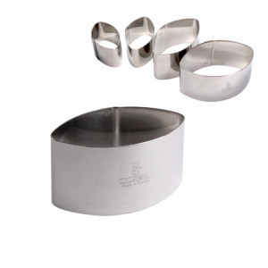 Emporte Pièce Calisson 4,5 x 2,8 H 3 cm Inox Gobel