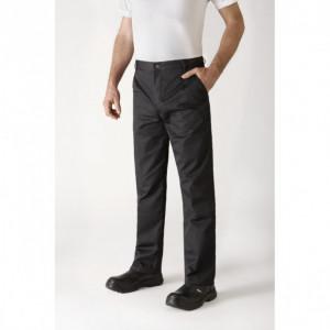 Pantalon de Cuisine Mixte Noir TIMEO T.46 Robur