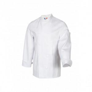 Veste de Cuisine Mixte Blanc TAMISE T.2 Robur