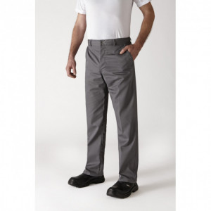 Pantalon de Cuisine Mixte Gris Anthracite TIMEO T.44 Robur