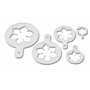 Lot de 5 Pochoirs Plastique Fleur de Lotus Mallard Ferrière