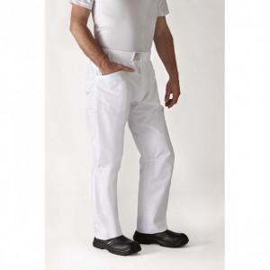 Pantalon de Cuisine Mixte Blanc ARENAL T.4 Robur