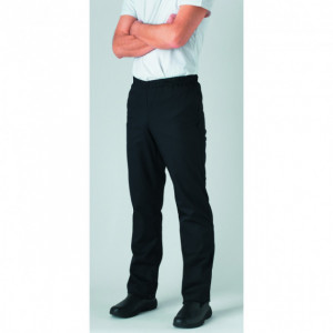 Pantalon de Cuisine Mixte Noir pression UMINI T.2 Robur