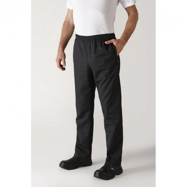 Pantalon de Cuisine Mixte Noir UMINI T.3 Robur