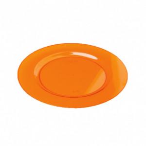 FIN DE SERIE Assiette Plastique Orange Ø19cm (X10) Crokus