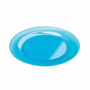FIN DE SERIE Assiette Plastique Bleue Ø23cm (X6) Crokus