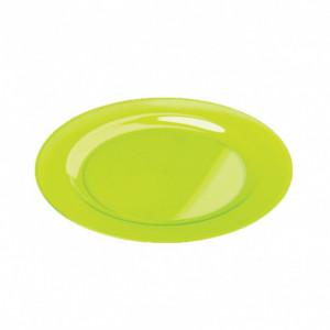 Assiette Plastique Verte Ø26cm (X6) Crokus
