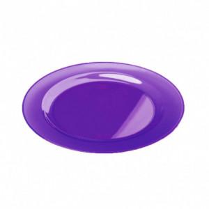 FIN DE SERIE Assiette Plastique Violette Ø26cm (X6) Crokus