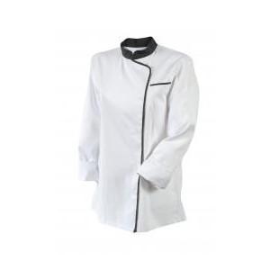 Veste de Cuisine Femme Blanc/Parement Gris EXPRESSION T.5 Robur