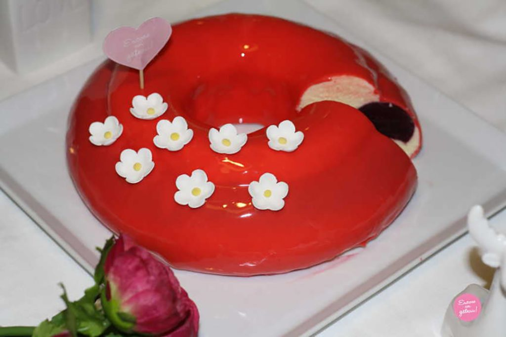 Entremets Purée de Fruits Rouges et Calisson