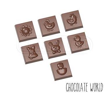 Moule Chocolat Friture de Pâques 3,1 cm (x21) Chocolate World