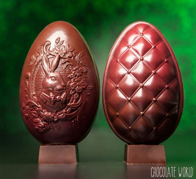 Moule Chocolat Oeuf Matelassé 86.5 mm (x6) Chocolate World